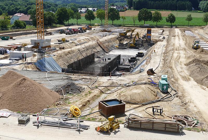 Baustelle Betriebsgelände Dahlinghausen
