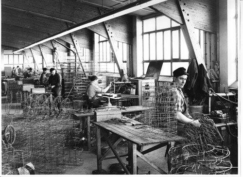 historisches Bild Werkshalle Kesseböhmer