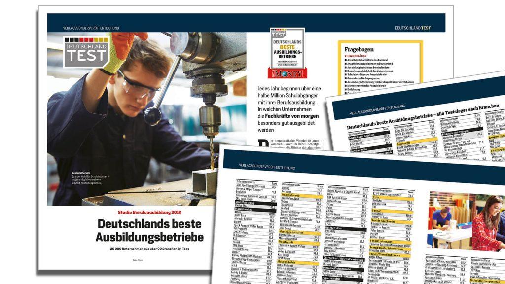 Focus Bericht Deutschlands beste Ausbildungsbetriebe