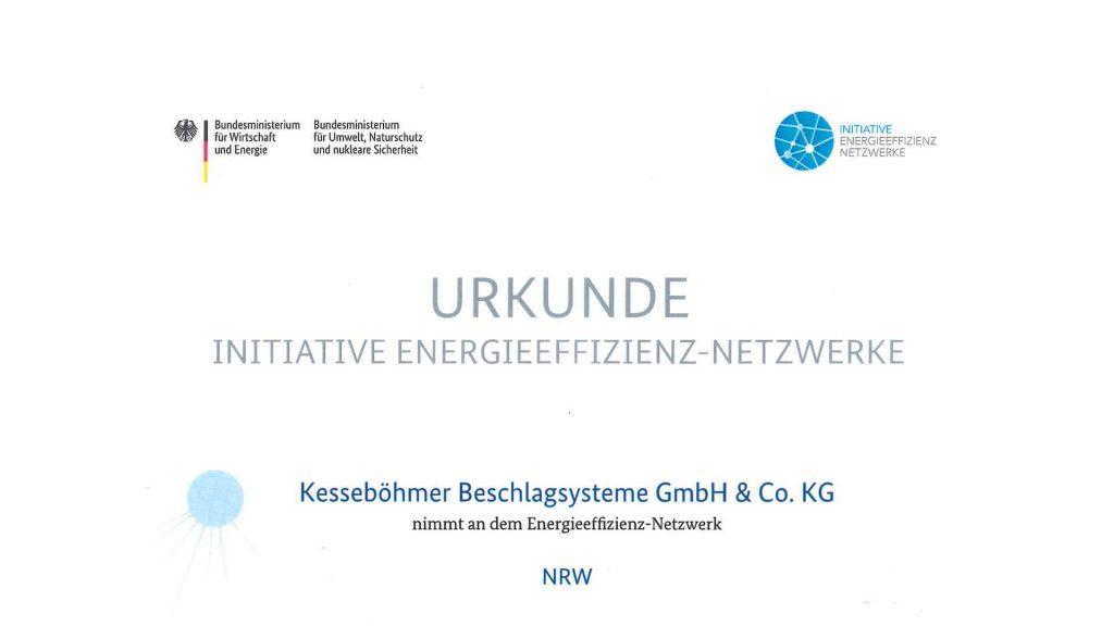 Urkunde Teilnahme Netzwerktreffen