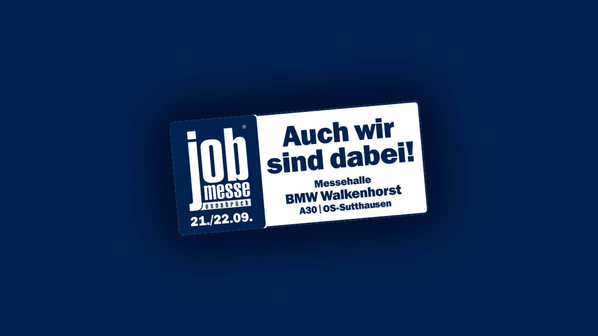 16. jobmesse Osnabrück – wir sind dabei!
