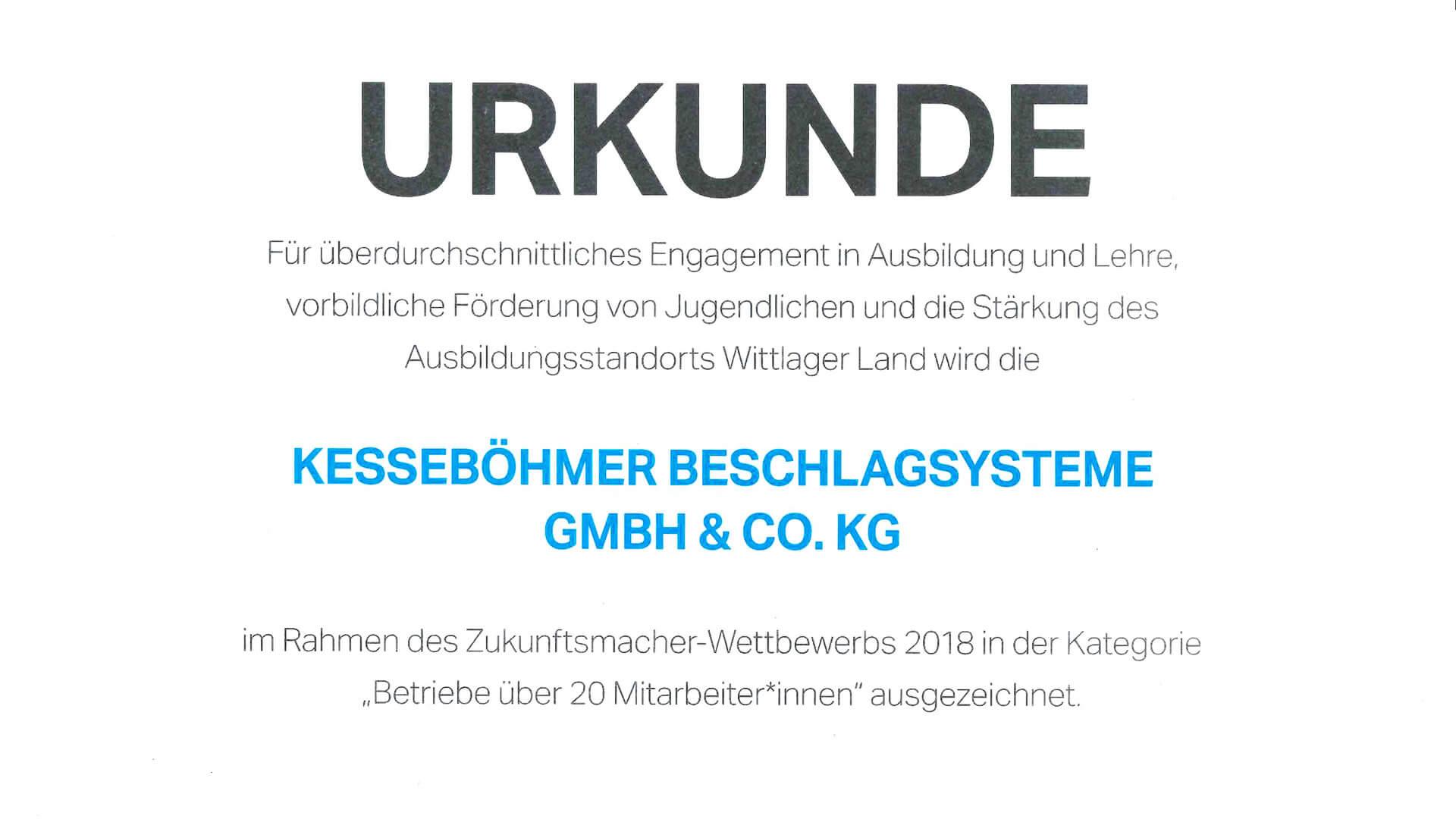 """Kesseböhmer ist """"Zukunftsmacher"""""""